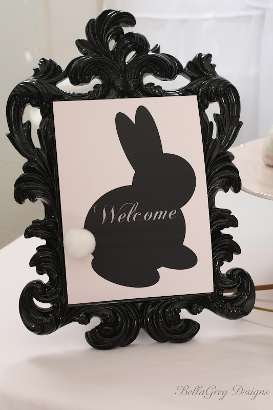 2012 Vintage Peter Cottontail Easter Collection Welcome sign